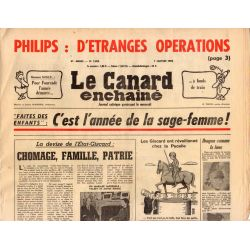 Canard Enchaîné (le) - n° 2880 - 7 janvier 1976 - Philips : d'étranges opérations