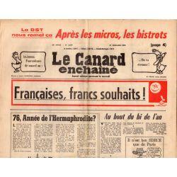 Canard Enchaîné (le) - n° 2879 - 31 décembre 1975 - Françaises, francs souhaits !
