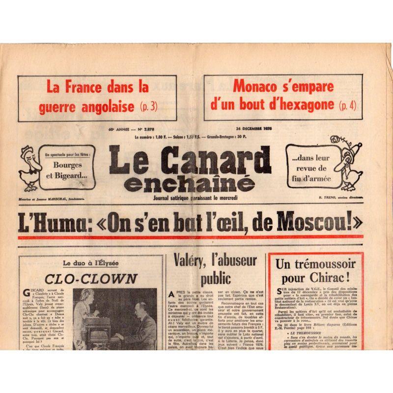 Canard Enchaîné (le) - n° 2878 - 24 décembre 1975 - La France dans la guerre angolaise