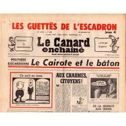 Canard Enchaîné (le) - n° 2876 - 10 décembre 1975 - Politique Giscardienne : la Cairote et le bâton
