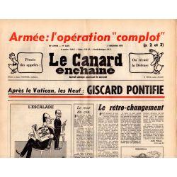 """Canard Enchaîné (le) - n° 2875 - 3 décembre 1975 - Armée : l'opération """"complot"""""""
