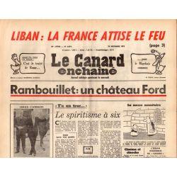 Canard Enchaîné (le) - n° 2873 - 19 novembre 1975 - Rambouillet : un château Ford