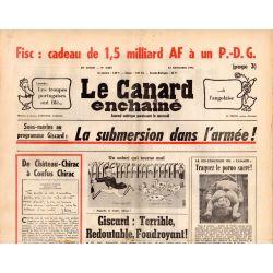 Canard Enchaîné (le) - n° 2872 - 12 novembre 1975 - Sous-marins au programme : La submersion dans l'armée !