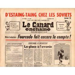 Canard Enchaîné (le) - n° 2869 - 22 octobre 1975 - D'Estaing-Taing chez les soviets