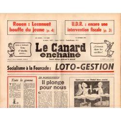 Canard Enchaîné (le) - n° 2868 - 15 octobre 1975 - Socialisme à la Fourcade : Loto-Gestion