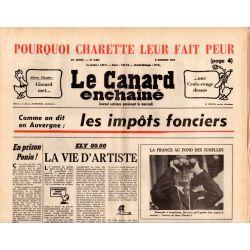 Canard Enchaîné (le) - n° 2867 - 8 octobre 1975 - Comme on dit en Auvergne : Les impôts fonciers