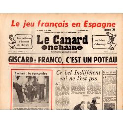 Canard Enchaîné (le) - n° 2866 - 1er octobre 1975 - Le jeu français en Espagne
