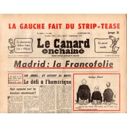 Canard Enchaîné (le) - n° 2865 - 24 septembre 1975 - Madrid : La Francofolie