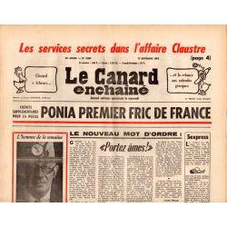 Canard Enchaîné (le) - n° 2864 - 17 septembre 1975 - Ponia premier Fric de France