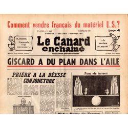Canard Enchaîné (le) - n° 2863 - 10 septembre 1975 - Giscard a du plan dans l'aile