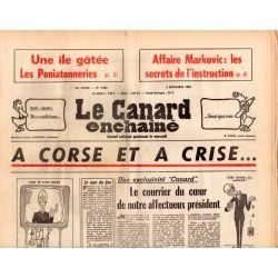 Canard Enchaîné (le) - n° 2862 - 3 septembre 1975 - A Corse et à Crise