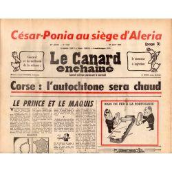 Canard Enchaîné (le) - n° 2861 - 27 aout 1975 - Corse : l'autochtone sera chaud