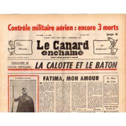 Canard Enchaîné (le) - n° 2860 - 20 aout 1975 - Église portugaise : La calotte ou le bâton