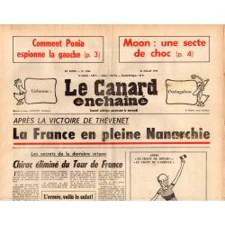 Canard Enchaîné (le) - n° 2856 - 23 juillet 1975 - Moon une secte de choc - la France en pleine Nanarchie