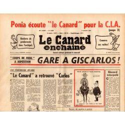 Canard Enchaîné (le) - n° 2854 - 9 juillet 1975 - Ponia écoute le Canard pour la CIA