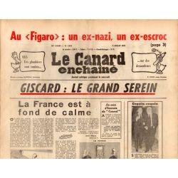 Canard Enchaîné (le) - n° 2853 - 2 juillet 1975 - Giscard : Le grand serein