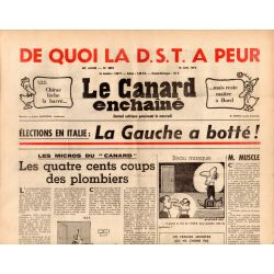 Canard Enchaîné (le) - n° 2851 - 18 juin 1975 - De quoi LA DST a peur