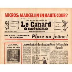 Canard Enchaîné (le) - n° 2849 - 4 juin 1975 - Chômage : place au jeûne !