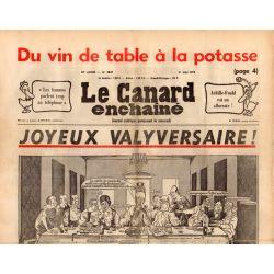 Canard Enchaîné (le) - n° 2847 - 21 mai 1975 - Joyeux Valyversaire !