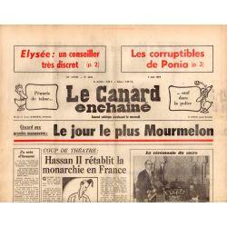 Canard Enchaîné (le) - n° 2845 - 7 mai 1975 - Giscard aux grandes manœuvres : le jour le plus Mourmelon
