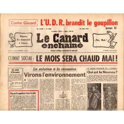 Canard Enchaîné (le) - n° 2844 - 30 avril 1975 - Climat social : le mois sera chaud mai !