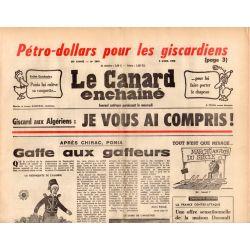 Canard Enchaîné (le) - n° 2841 - 9 avril 1975 - Giscard aux Algériens : Je vous ai compris !