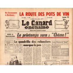 "Canard Enchaîné (le) - n° 2838 - 19 mars 1975 - Le printemps sera : ""Chôme !"""
