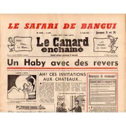 Canard Enchaîné (le) - n° 2837 - 12 mars 1975 - Le safari de Bangui