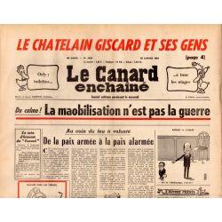 Canard Enchaîné (le) - n° 2830 - 22 janvier 1975 - La maobilisation n'est pas la guerre