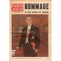 Paris Jour - n° 3472 - 12 novembre 1970 - Hommage au plus illustre des français