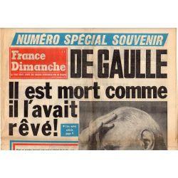 France Dimanche - 12 novembre 1970 - Numéro spécial souvenir DE GAULLE