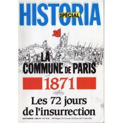 Historia Spécial n° 477 - La Commune de Paris - 1871. Les 72 jours de l'insurrection