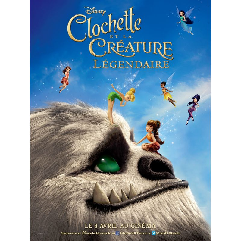 Affiche film Clochette et la Créature Légendaire (Disney)