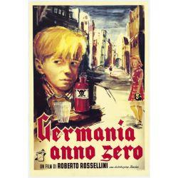 Allemagne Année Zéro (de Roberto Rossellini) affiche film