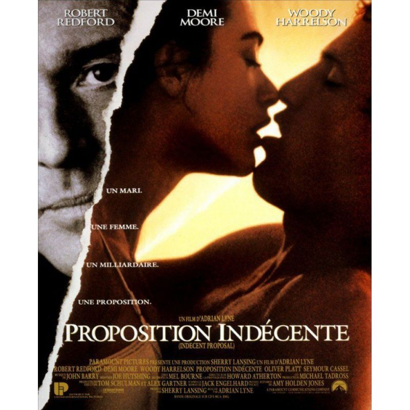 Proposition indécente (Robert Redford ) affiche film