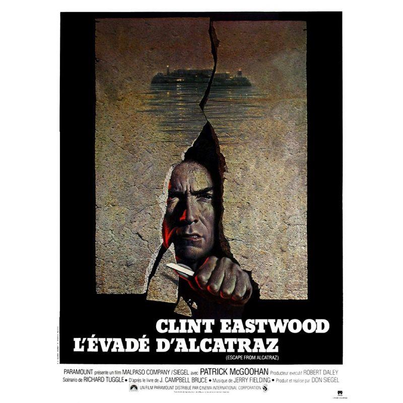 L'Evadé d'Alcatraz (Clint Eastwood) affiche du film