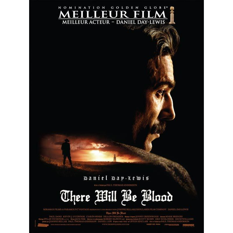 There Will Be Blood (de Paul Thomas Anderson) affiche film