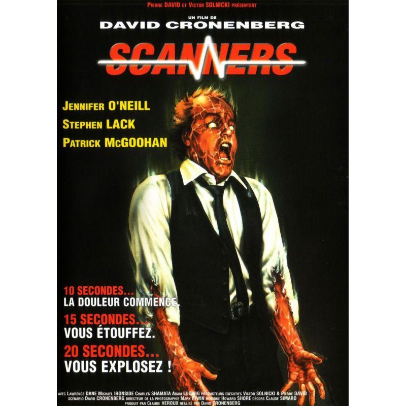 Scanners (David Cronenberg)  affiche film