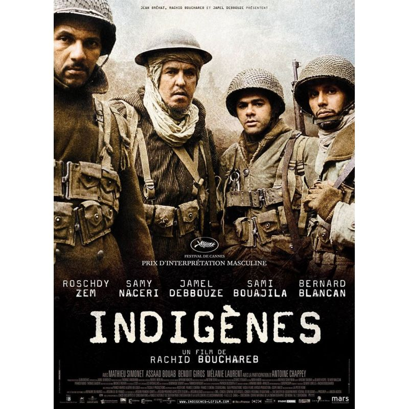 affiche film Indigènes (Samy Nacery & Jamel Debbouze)