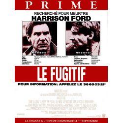 Affiche film Le Fugitif (Harrison Ford)