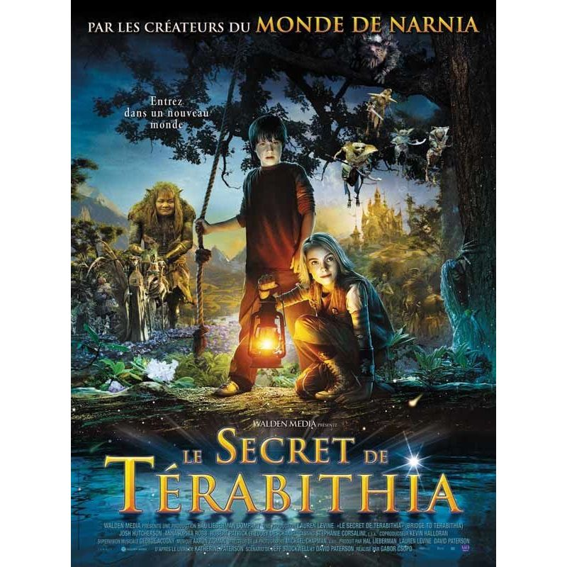 Affiche film Le Secret de Térabithia (de Gabor Csupo)