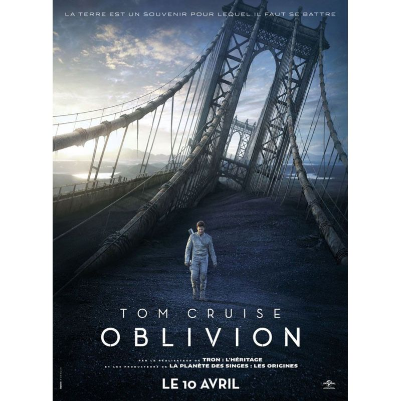 Affiche film Oblivion (Tom Cruise & Morgan Freeman)