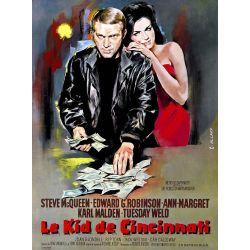 Affiche film Le Kid de Cincinnati (Steve McQueen)