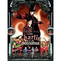 Affiche film Charlie et la Chocolaterie (de Tim Burton avec Johnny Depp)