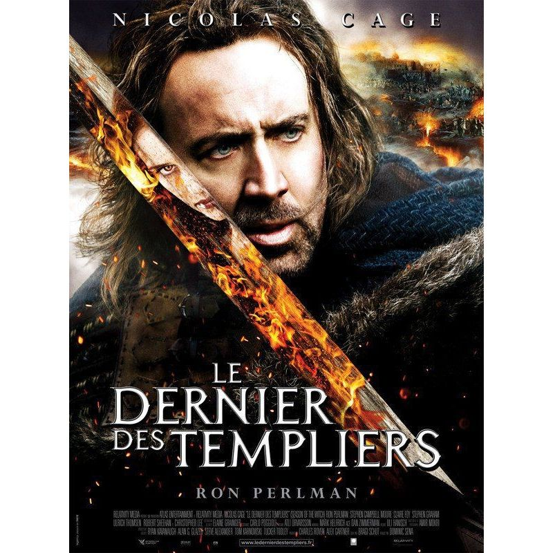 Affiche film Le Dernier des Templiers (Nicolas Cage)