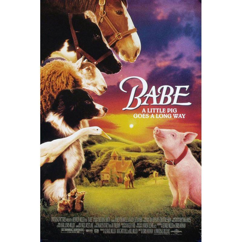 Affiche film Babe, le cochon devenu berger (de Chris Noonan)