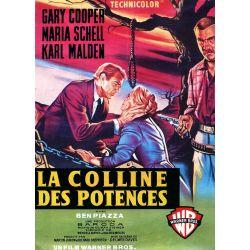 Affiche film La Colline des Potences (Gary Cooper, Maria Schell)
