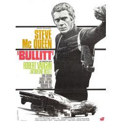 Affiche film Bullitt (Steve McQueen, Robert Vaughn)