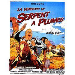 Affiche film La Vengeance du Serpent à Plumes (de Gérard Oury avec Coluche)
