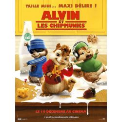 Affiche film Alvin et les Chipmunks (de Tim Hill)